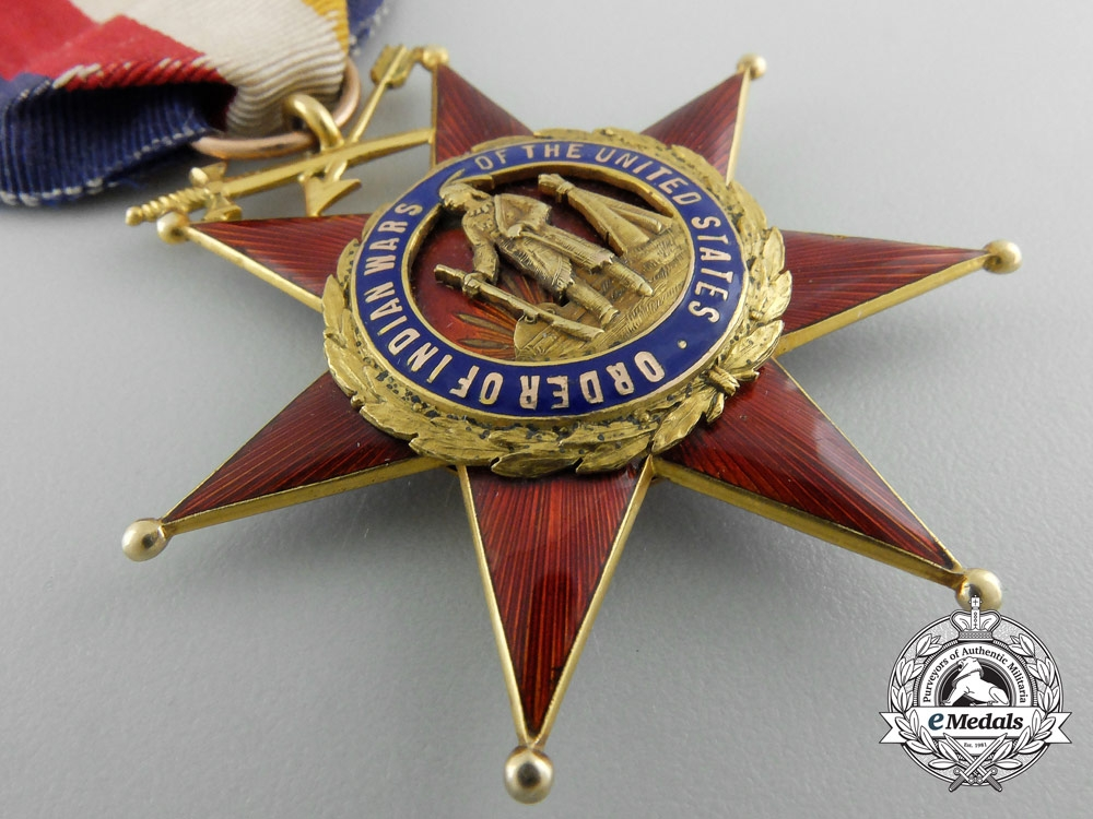 An Order of the Indian Wars to General & Writer Charles King, Congressional Medal of Honor Winner