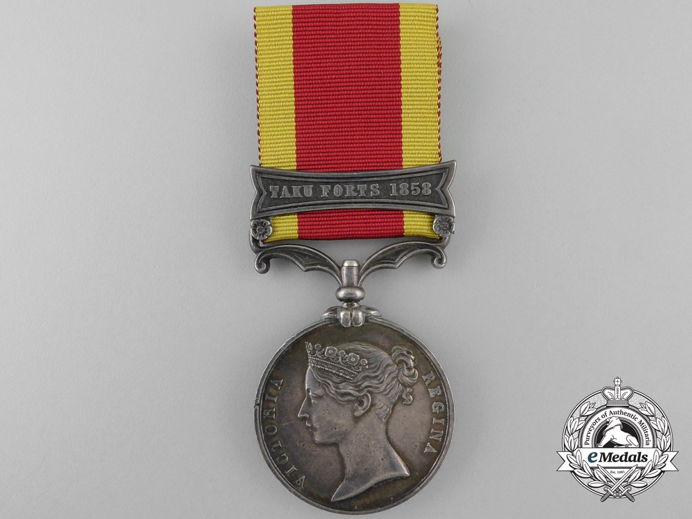 A Second China War Medal 1857-1860; Tuku-Forts