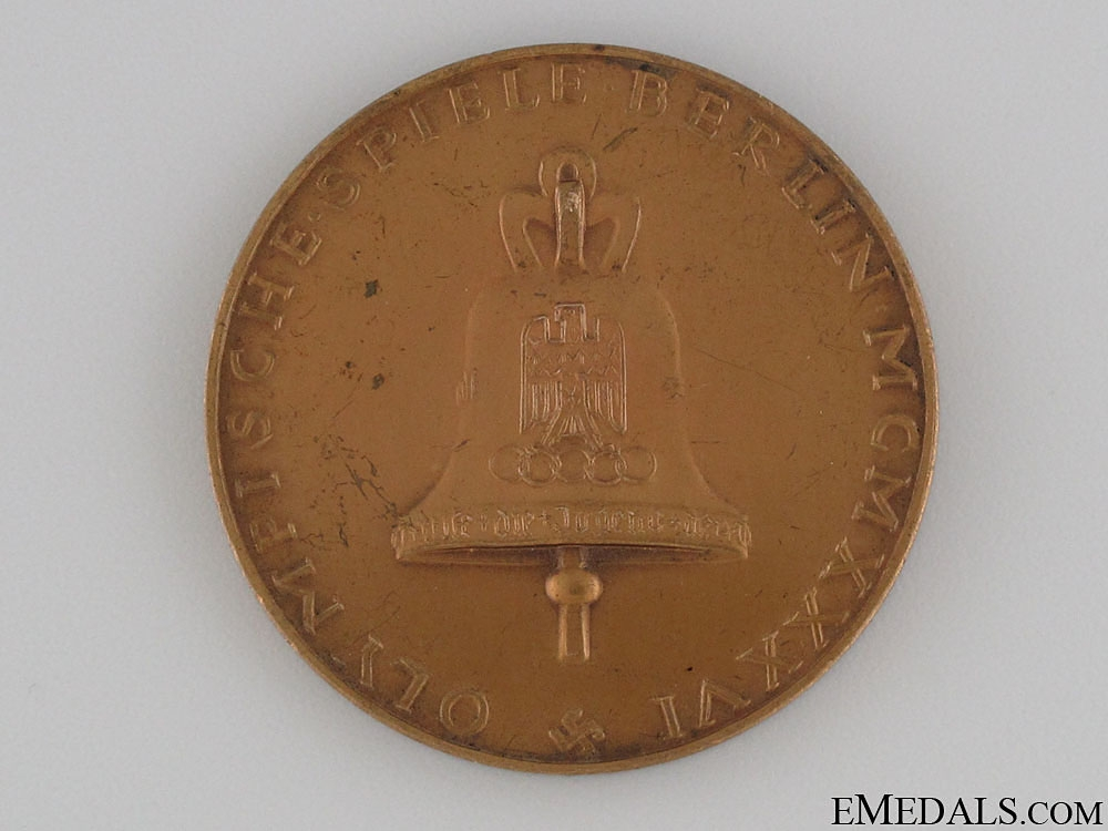 XI Summer Olympic Games Berlin Medal 1936