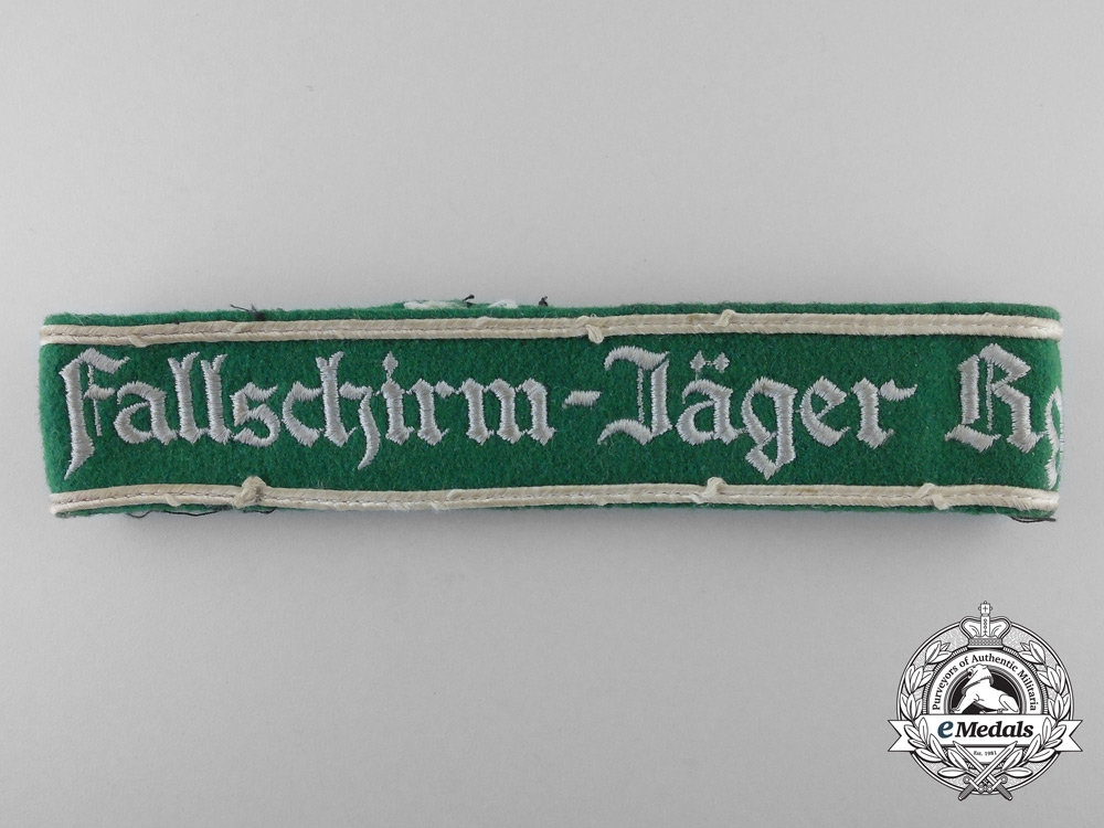 A Uniform Removed 1st Fallschirmjäger Regiment Cufftitle