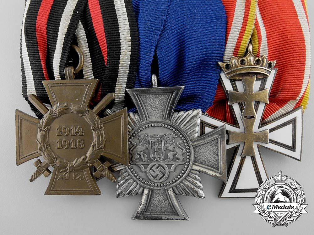 A Rare Second War German Medal Bar with Two Danzig Awards