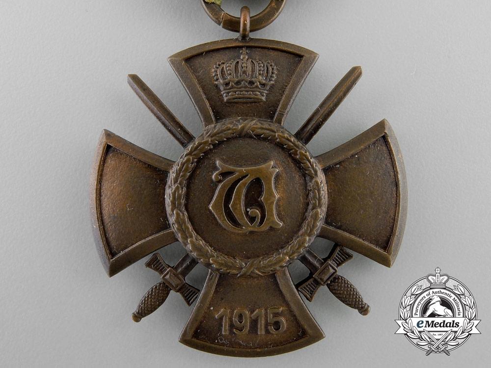 A Wurttemberg Wilhelm Cross with Swords 1915
