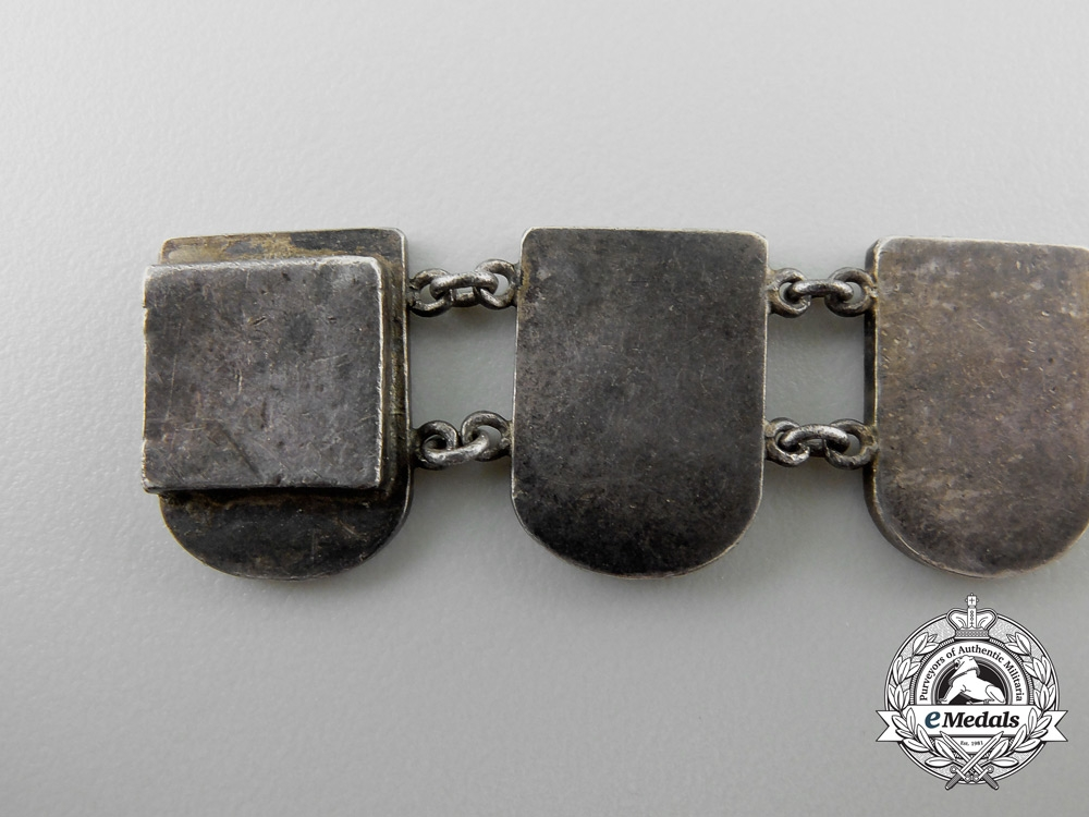 An Unusual German Runes Silver Bracelet
