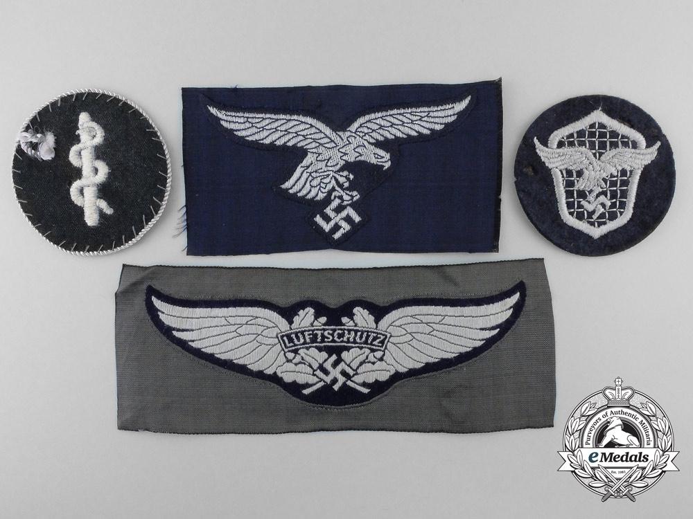 Germany. Four Second War Luftwaffe Cloth Insignia