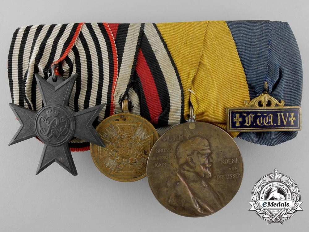A franco prussian war group of four awards decorations for Awards decoration