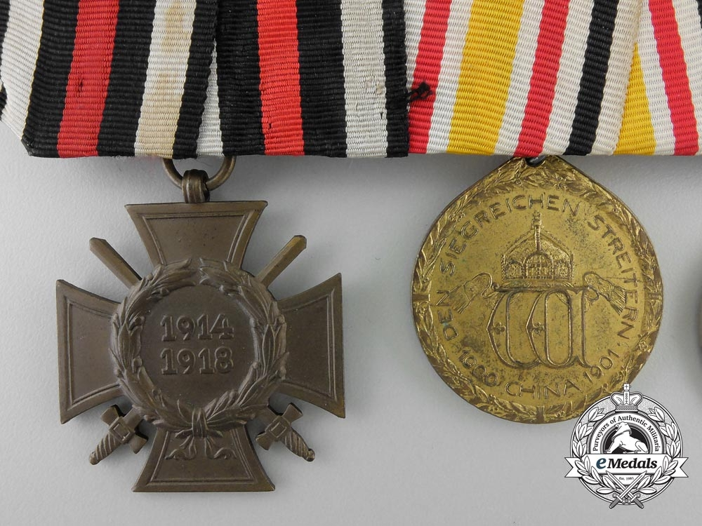 Germany. A China Campaign & First & Second War Medal Bar