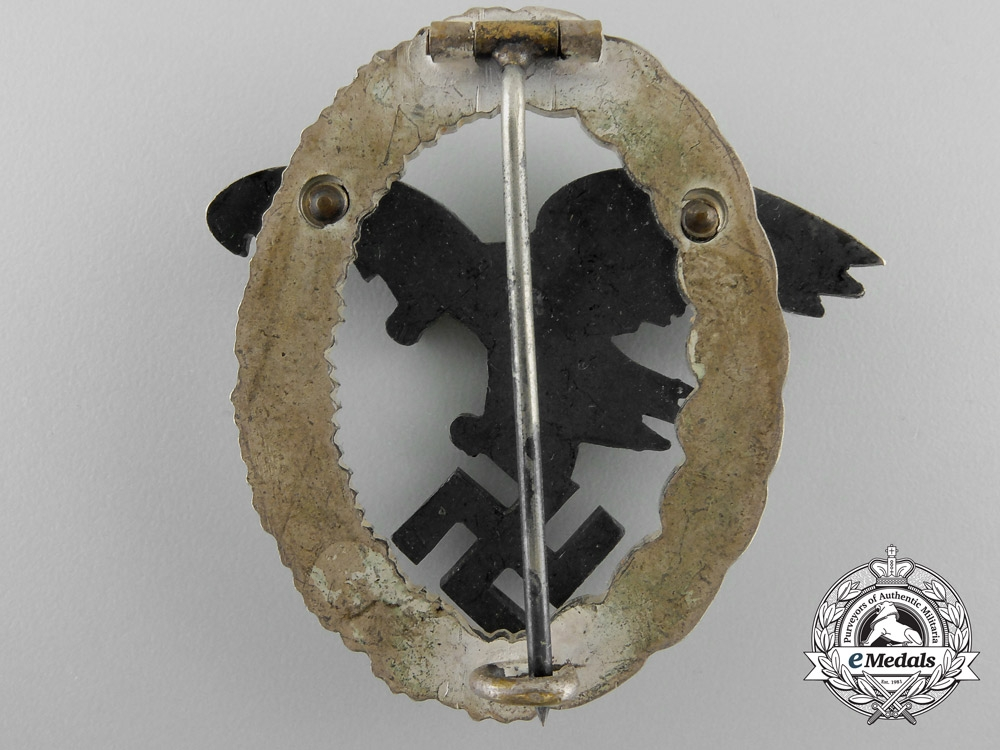 An Early Cased Luftwaffe Observers Badge by Assmann