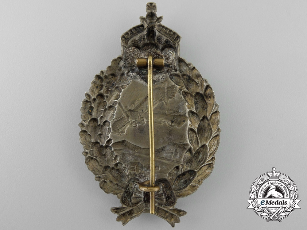 Germany. A First War Prussian Pilot's Badge;  Unmarked Juncker