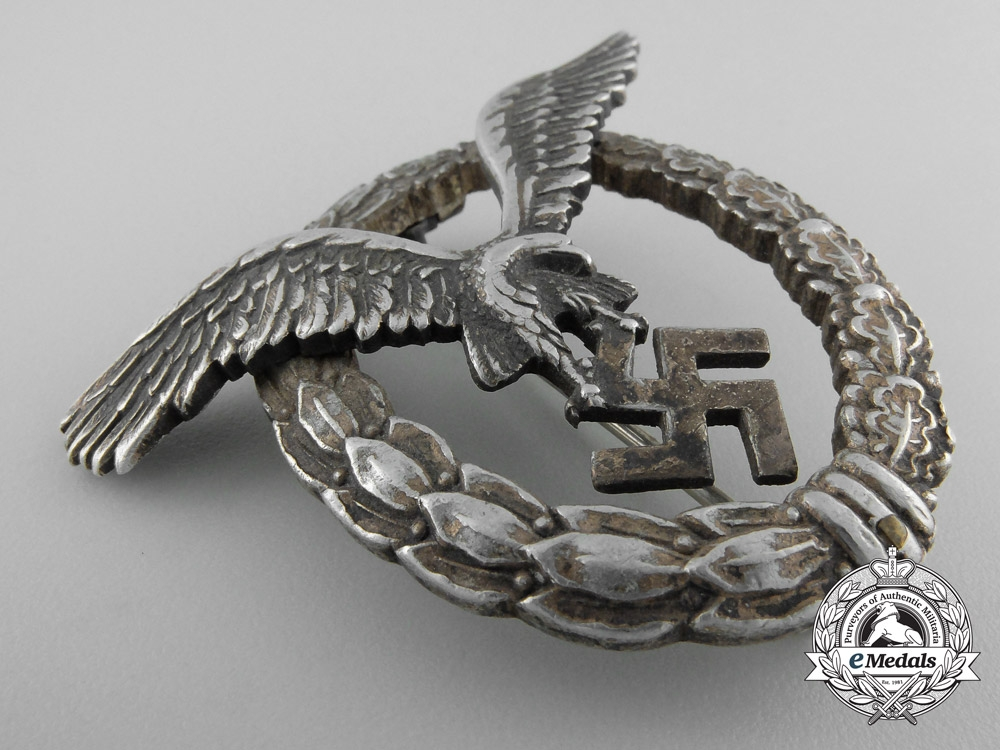 Germany. An Early Luftwaffe Pilot's Badge in Aluminum by Assmann