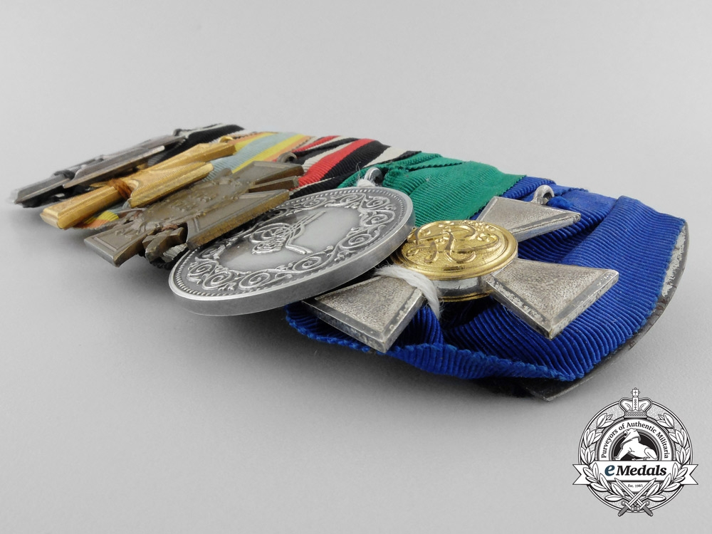 A German Imperial Medal Bar with Turkish Life Saving Award