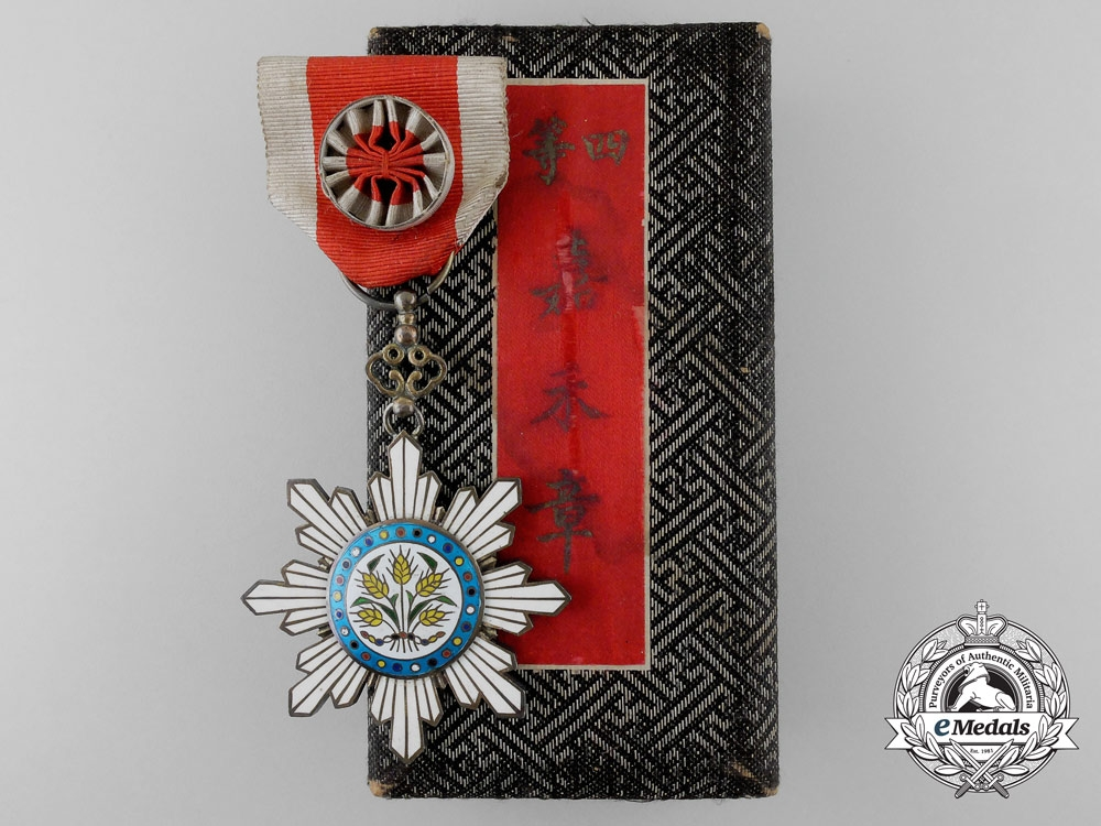 A Chinese Order of the Precious Brilliant Golden Grain; 6th Class with Case