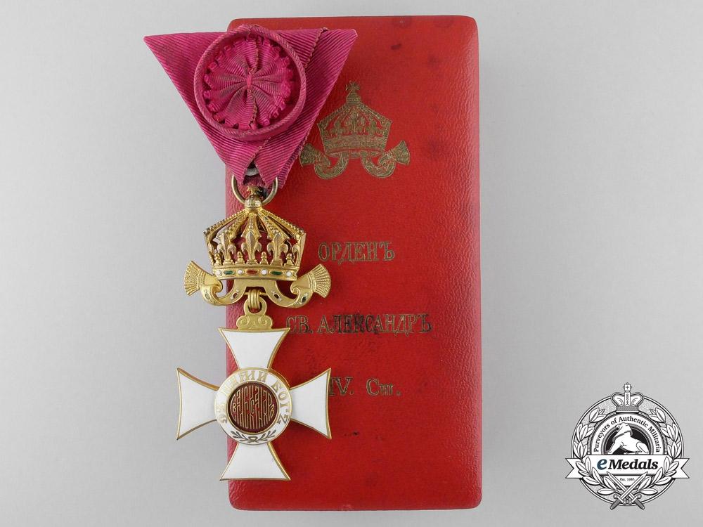 A First War Bulgarian Order of Alexander; Fourth Class in Case