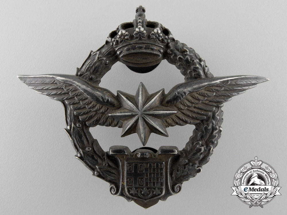 A Royal Yugoslavian Army Air Service Observer's Badge by Karnet-Kisely
