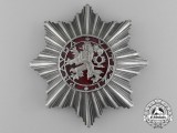 A Czechoslovakian Order of the White Lion; Grand Officer Breast Star by Karnet Kysely
