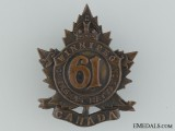 61st Battalion (Winnipeg) Cap Badge CEF