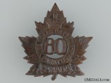 80th Battalion (Belleville, Ontario) Cap Badge CEF