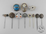 Eight German Stickpins & Badges