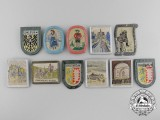 Eleven German Embroidered Badges
