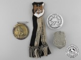 Four German Badges and Tinnies