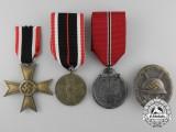 Four Second War German Awards, Decorations, & Badges