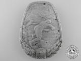 A Second War Hungarian Anti-Tank Badge; Numbered