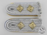 A Set of Flight Reserve Personnel Hauptmann (Captain) Shoulder Board Pair