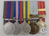 A Canadian Second & Korean War Medal Bar to Quarter Master Sergeant