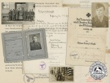 A Group of Documents, Photos to Unteroffizier, K. Baum; 369th Croatian Infantry Regiment