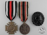 Three First War German Imperial Medals, Awards, and Badges