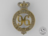 A Victorian 96th Regiment of Foot Glengarry Badge