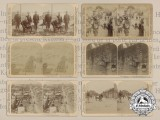 Six American Boxer Rebellion Stereoscope Plates