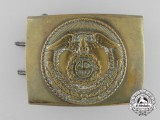 An SA (Sturmabteilungen) Enlisted Man's Belt Buckle with   Sunwheel Swastika