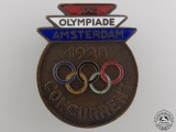 A 1928 Amsterdam Olympic Games Competitor's Badge