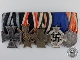 A First War Iron Cross & State Service German Medal Bar