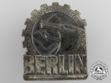 A 1937 German Labour Front KdF (Deutsche Arbeitsfront, Kraft durch Freude) Berlin Broadcasting Exhibition Tinnie