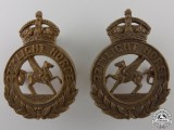 A 27th Light Horse Saskatchewan Militia Collar Badge Pair
