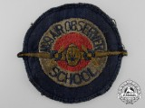A Second War No. 9 Canadian Air Observer School Patch