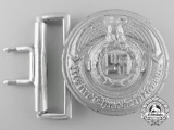 An SS (Schutzstaffel) Officer's Belt Buckle by Overhoff & Cie; Published Example