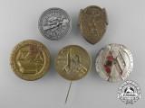 A Lot of Five German Tinnies & Badges