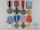 A Lot of Eight European Medals, Decorations, & Awards