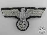 An Army Officer's Bullion Eagle for Visor Hat (Schirmutze)