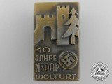 An NSDAP Wolfurt 10th Anniversary Tinnie