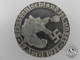 """A 1938 """"Groszdeutschland ist Unser"""" Tinnie"""