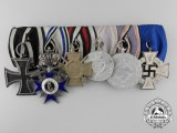 A First & Second War Bavarian Military Merit Order Medal Bar