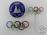 Three 1936 Berlin Olympic Games Pins & Badges