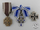 Three Second War German Miniature Medals & Awards