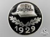 A Weimar Republic Der Stahlhelm Veteran's Association Membership Badge 1929