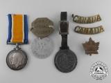A War Medal Group to Gunner Cecil J. Ward, 40th Battery, Canadian Field Artillery