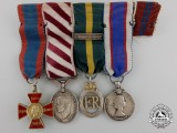 A Royal Red Cross & Distinguished Flying Medal Miniature Grouping