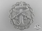 A First War German Naval Wound Badge; Silver Grade